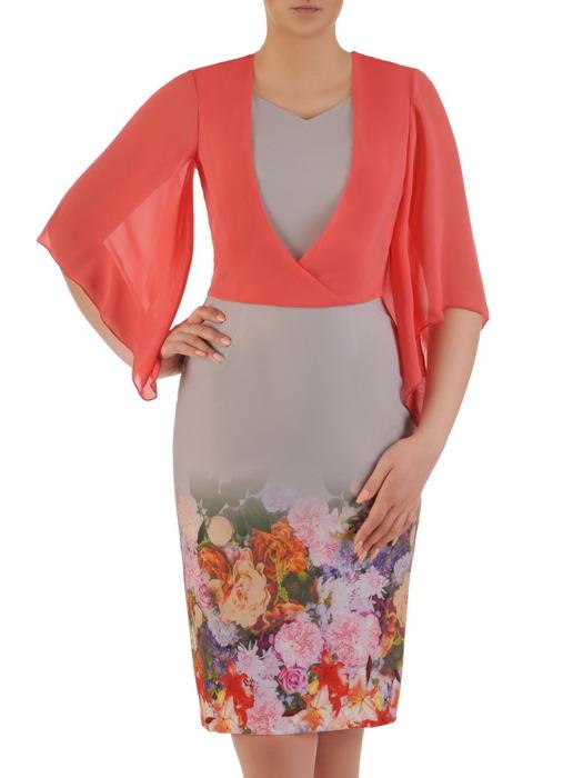 .Sukienka damska, wiosenna kreacja w wyszczuplającym fasonie 20840.