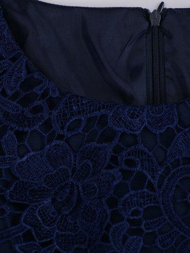 Sukienka na wesele Wirginia IV, elegancka kreacja z gipiury i tkaniny.