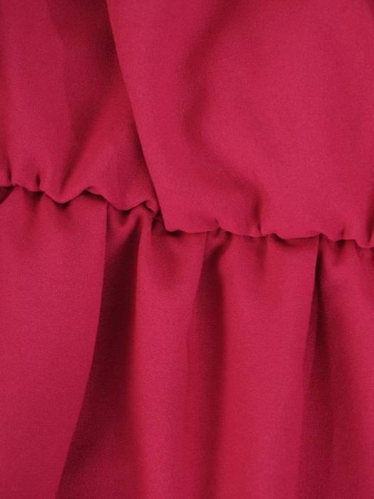 Amarantowa, długa sukienka z wiązaniem w pasie 26839