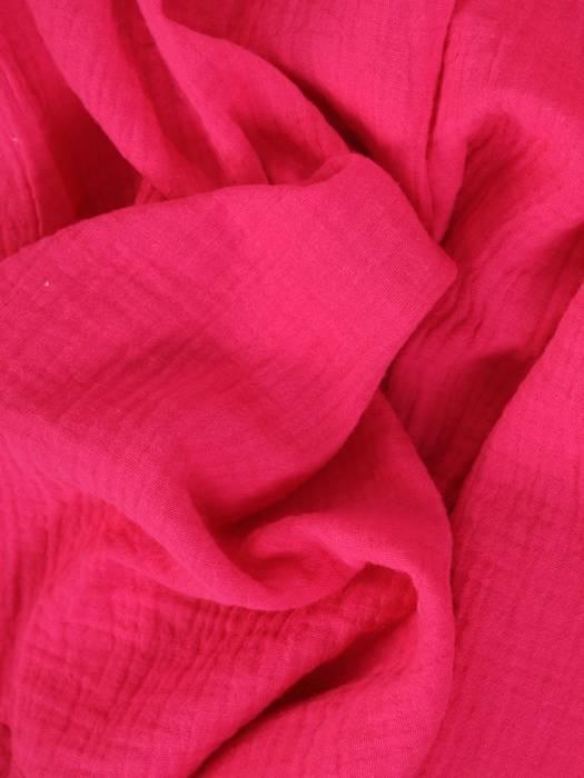 Amarantowa, luźna tunika w fasonie maskującym brzuch 29799