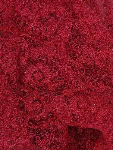 Amarantowa sukienka z krótkim, koronkowym żakietem 15047.