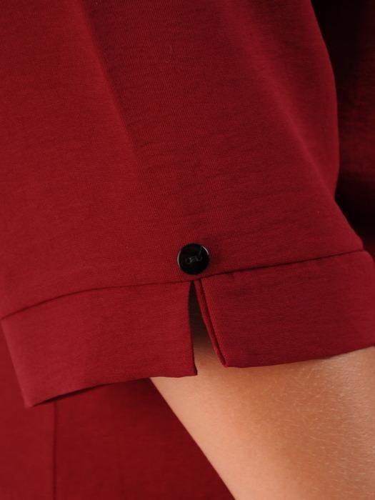 Bawełniana bluzka z guzikami przy dekolcie 22027