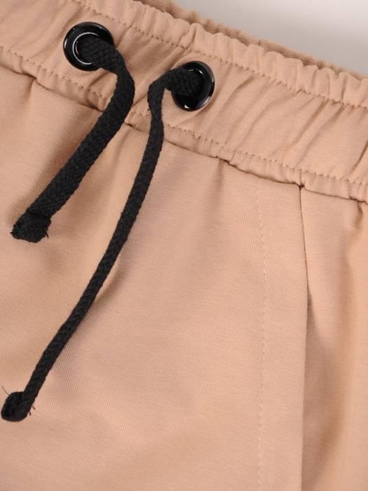Beżowa spódnica z dzianiny 28333