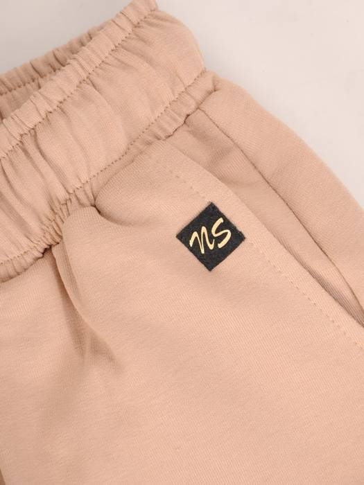 Beżowe dresowe spodnie 29209