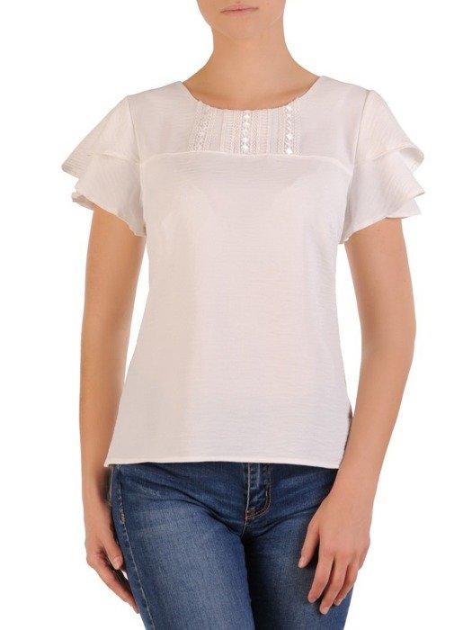Biała bluzka z krótkim rękawem 26285