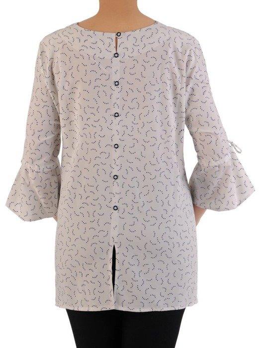 Bluzka damska z falbanami na rękawach 24469