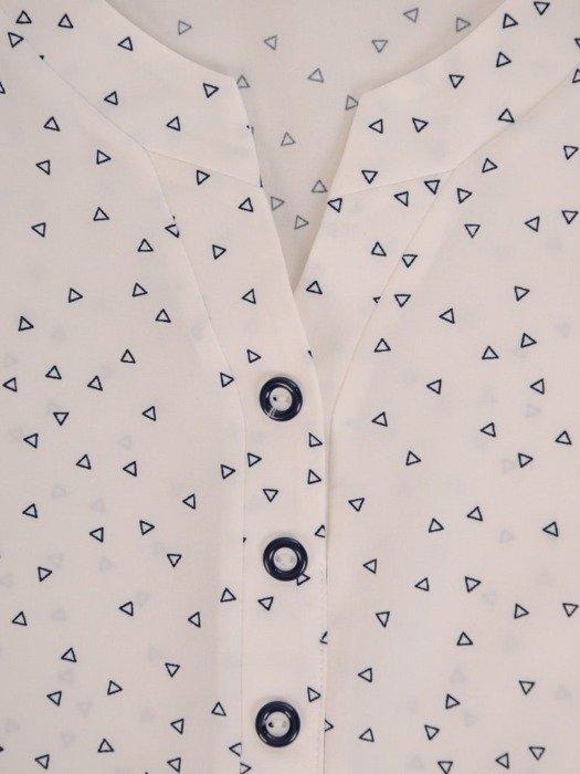 Bluzka damska z marszczonymi rękawami 26575