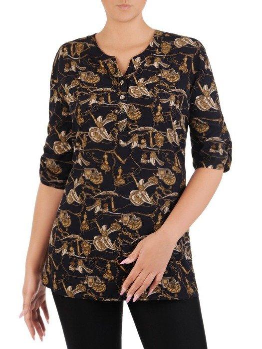 Bluzka damska z marszczonymi rękawami 26578