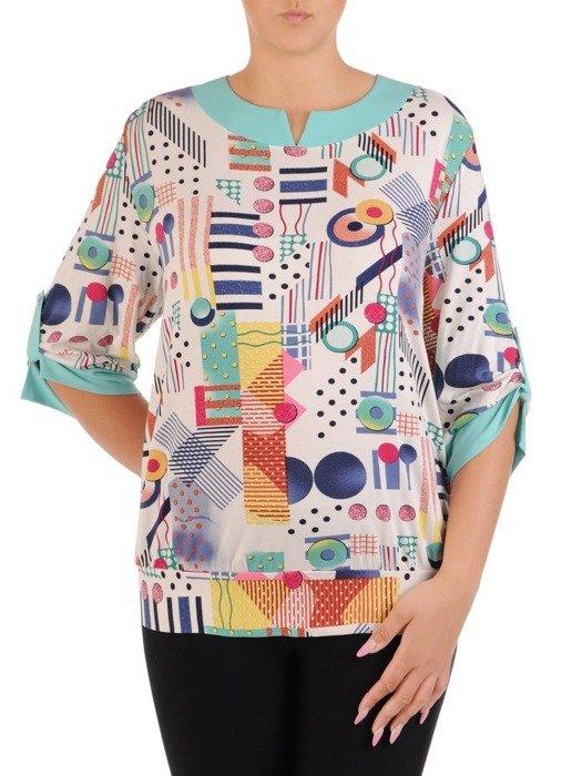 Bluzka damska z ozdobnym dekoltem 26541