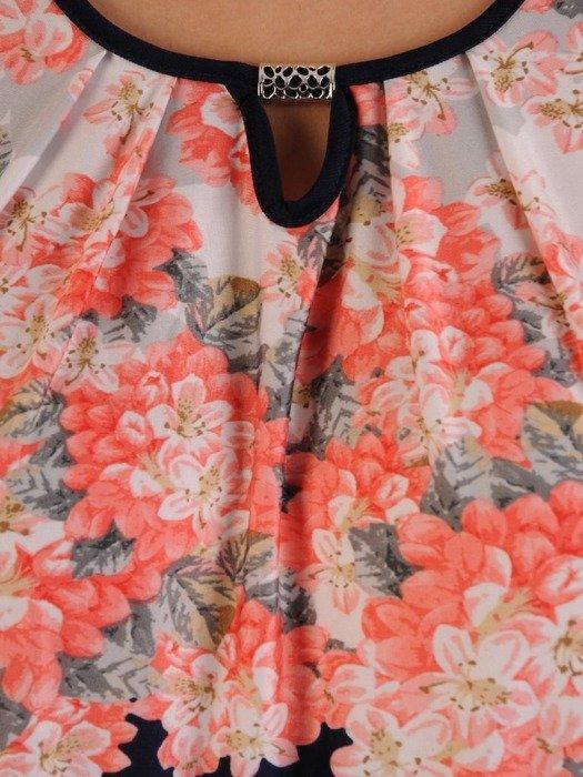 Bluzka z dzianiny z ozdobnym dekoltem 26200