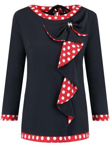 Bluzka z efektowną kokardą Marika I.