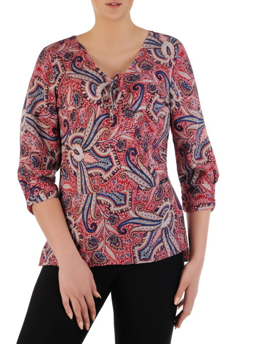 Bluzka z kolorowej tkaniny 20743.