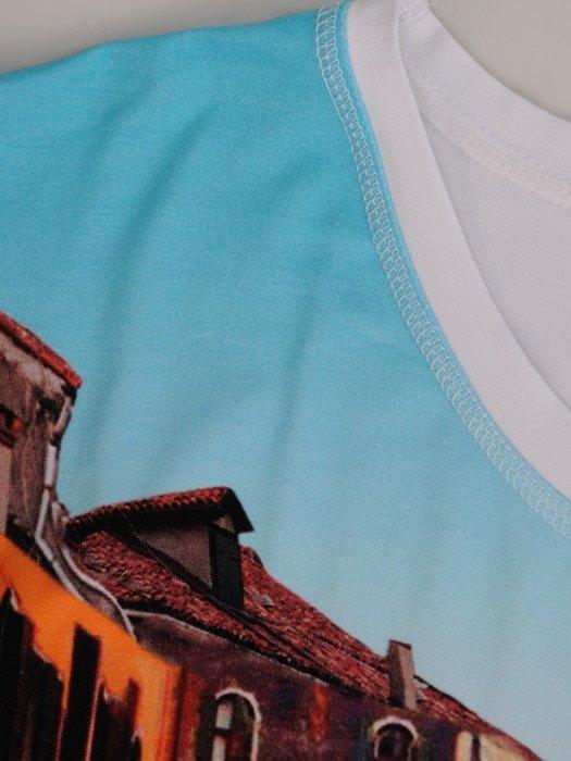 Bluzka z kolorowym nadrukiem 15244.