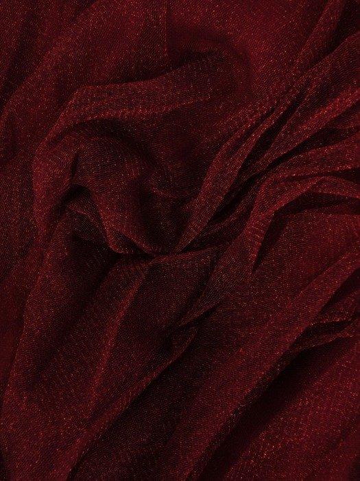 Bordowa połyskująca tiulowa spódnica 24839