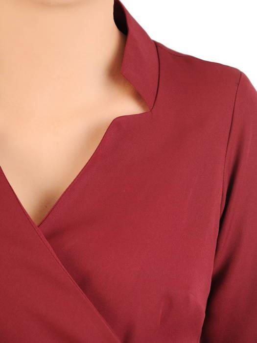 Bordowa sukienka żakietowa z dwurzędowym zapięciem 31068