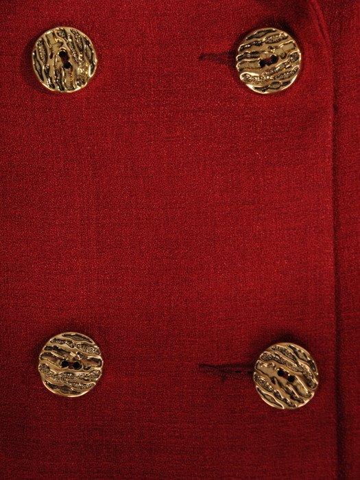 Bordowy płaszcz z dwurzędowym zapięciem 18826