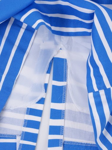 Chabrowa sukienka bez rękawów Alojza, wygodna kreacja na wiosnę.