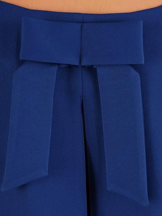 Chabrowa sukienka damska, elegancka kreacja z kokardą na plecach 27239