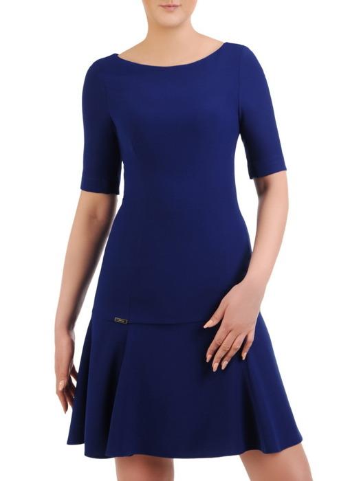 Chabrowa sukienka w kobiecym fasonie 20664.