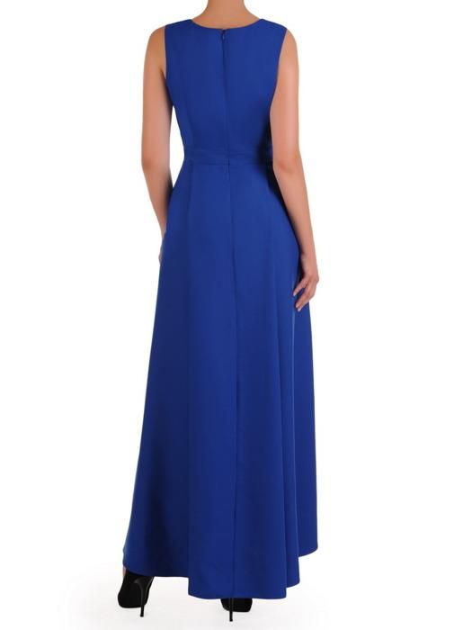 Chabrowa suknia w asymetrycznym fasonie, nowoczesna kreacja na wesele 21533