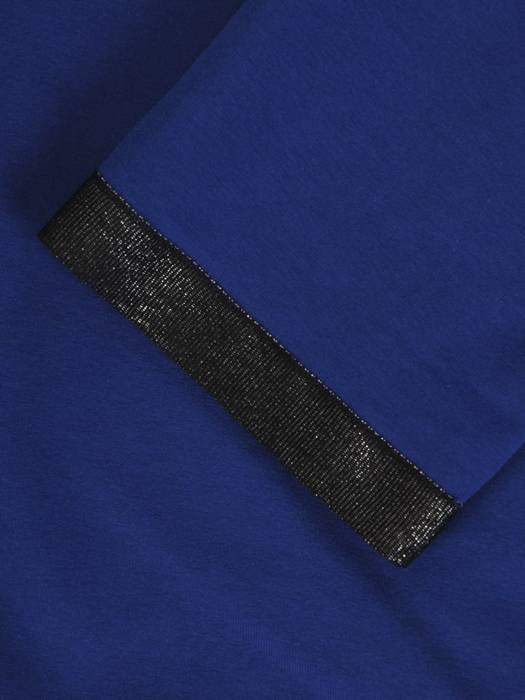 Chabrowy komplet dresowy z ozdobnymi tasiemkami 28692