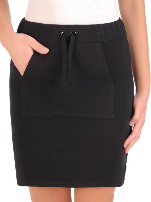 Czarna spódnica z dzianiny 28236