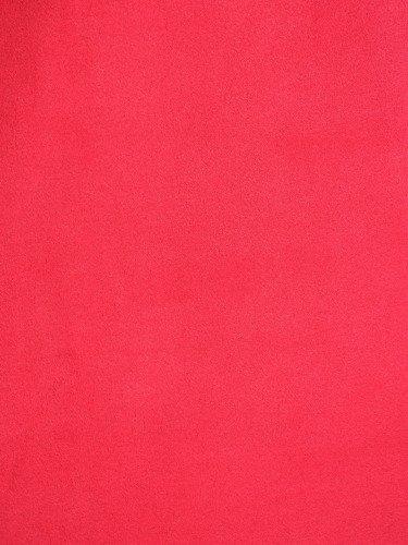 Czerwona sukienka z dużym dekoltem Gosia III, modna kreacja o luźnym kroju.