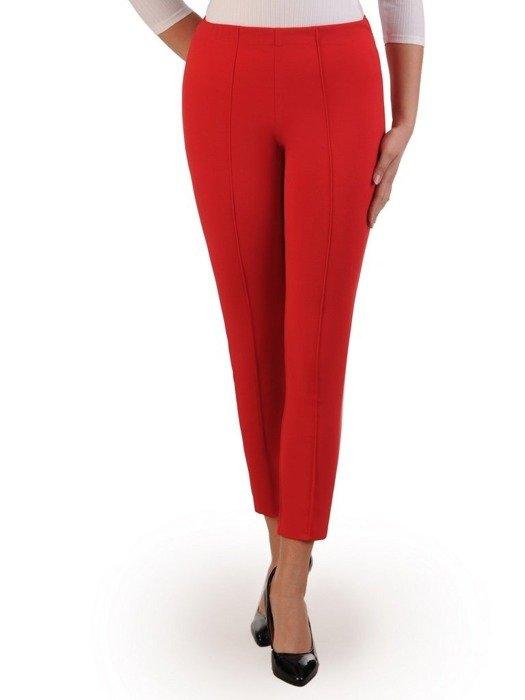 Czerwone spodnie z gumką w pasie 25853
