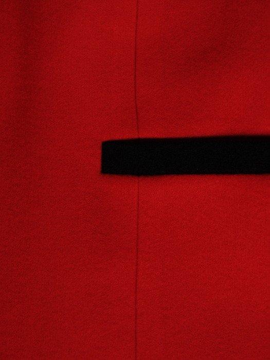 Czerwony żakiet z dzianiny 19920.