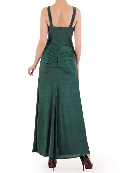 Długa suknia z modnym dekoltem, kreacja odkrywająca ramiona 21098