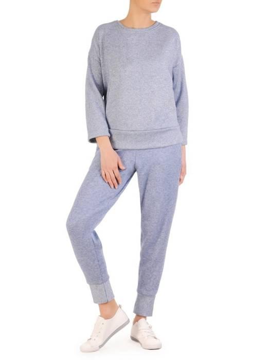 Dres sweterkowy damski zdobiony połyskującą nitką 29622