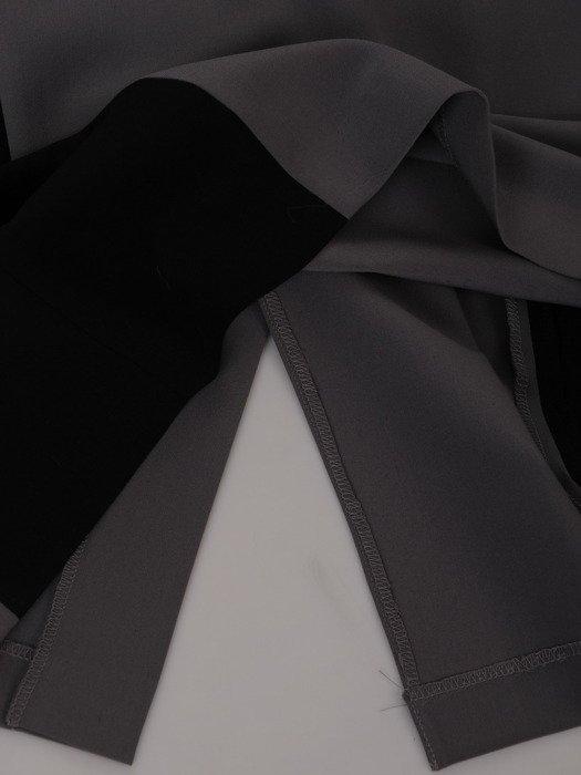 Dwukolorowa sukienka wyszczuplająca Aurora VI, modna kreacja modelująca figurę.