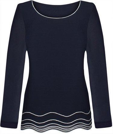 Dwuwarstwowa bluzka szyfonowa Joanna V.