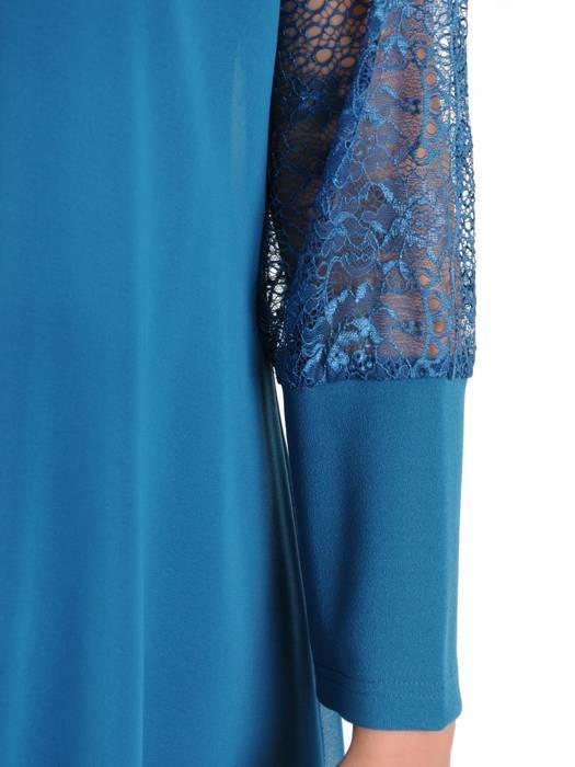 Dwuwarstwowa elegancka sukienka w kolorze morskim 29753