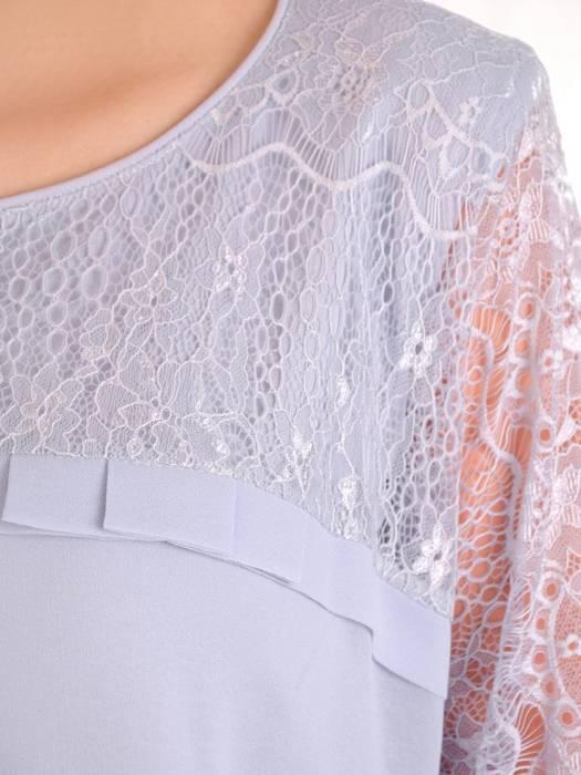 Dwuwarstwowa elegancka sukienka w popielatym odcieniu 29752