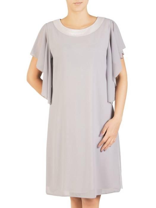 Dwuwarstwowa sukienka wieczorowa z luźnymi rękawami 30435