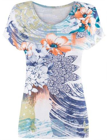 Dzianinowa bluzka w kwiaty Sygita I.