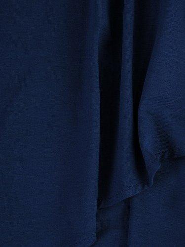 Dzianinowa tunika Marcjanna X, kreacja z asymetryczną narzutką.