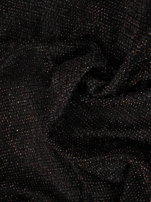 Efektowna czarno złota sukienka wyjściowa 26927