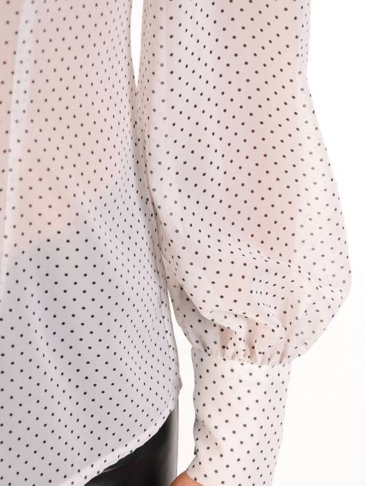 Elegancka bluzka koszulowa w groszki 30096