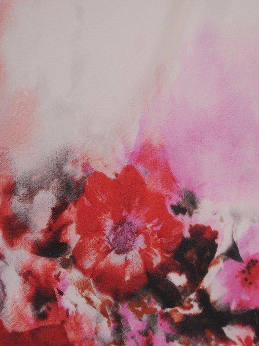 Elegancka bluzka w kwiaty z dwuwarstwowym przodem 19703