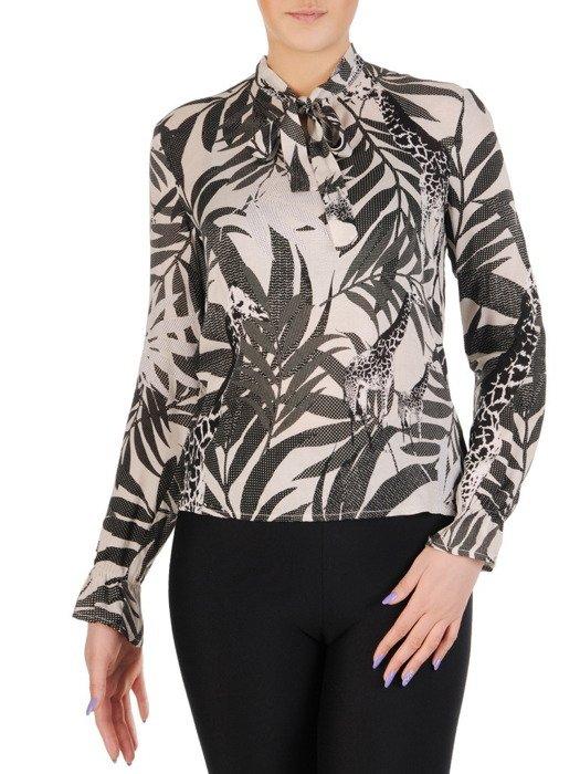 Elegancka bluzka w modny, roślinny wzór 14624.