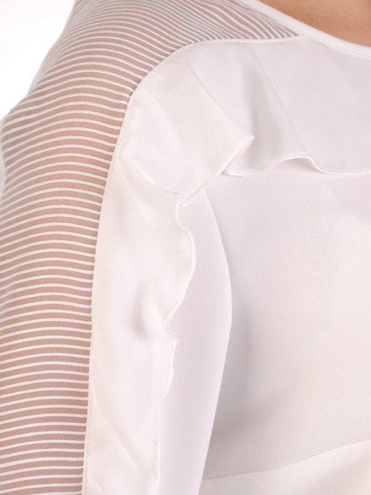 Elegancka bluzka z długą falbaną 19879