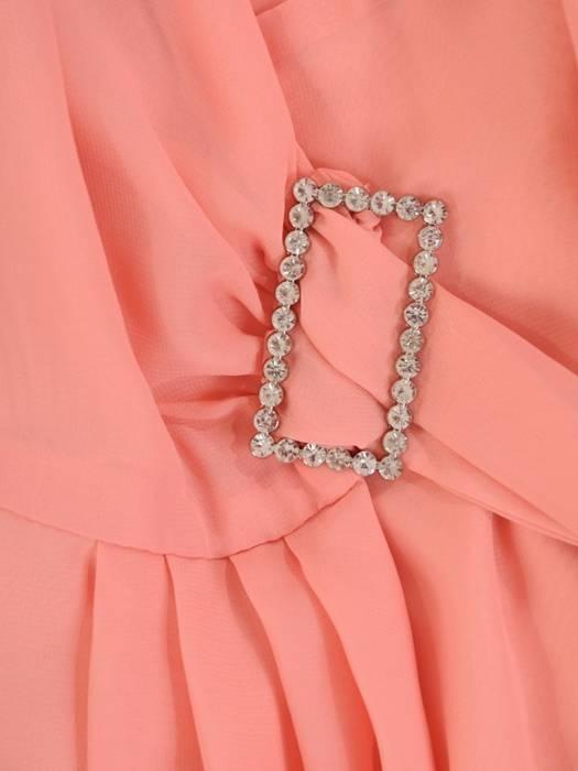 Elegancka, kopertowa sukienka z szyfonu 29019