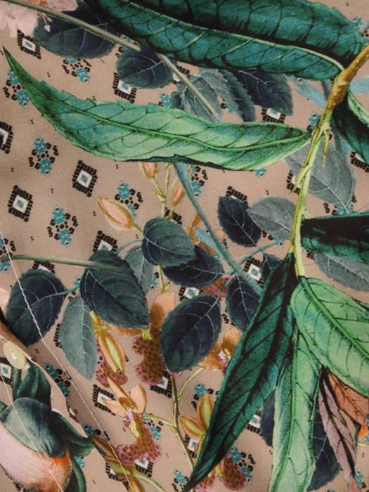 Elegancka koszula damska w roślinny deseń 30832