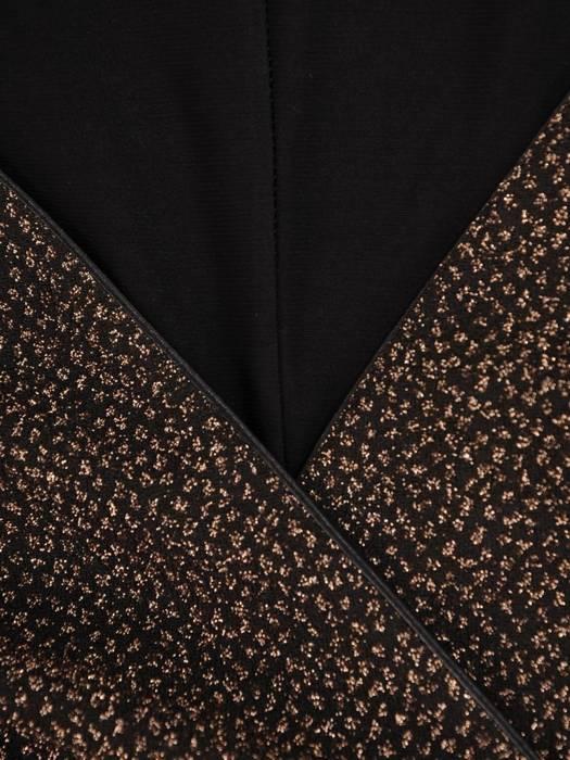 Elegancka, połyskująca sukienka z marszczonymi rękawami 27578