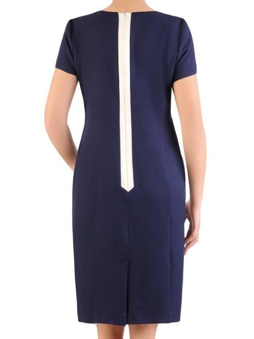 Elegancka, prosta sukienka w wyszczuplający wzór 29029