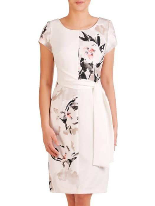 Elegancka sukienka damska, kreacja w kwiaty 29784