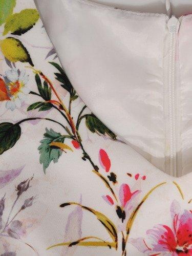 Elegancka sukienka z roślinnym nadrukiem 16211.