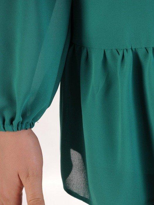 Elegancka szyfonowa bluzka z falbaną 24761
